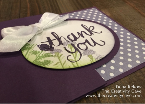Wild about Flower Thank You Partial Cut Card