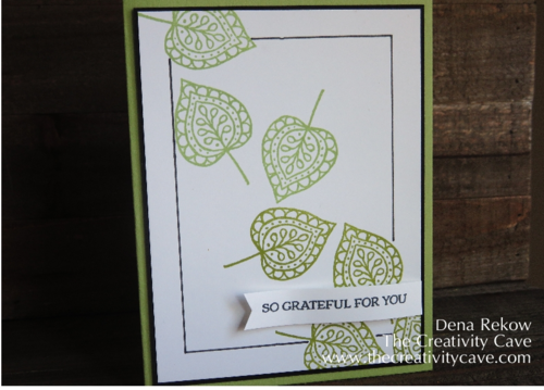 Stampin Up's Lighthearted Leaves Frame