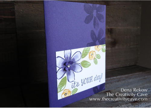 Sponge Shading using Stampin Up's Garden in Bloom