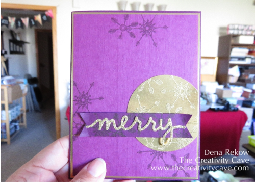 Gold Glimmery Snowflakes using Stampin Up's Project Life Hello December Stamp Set