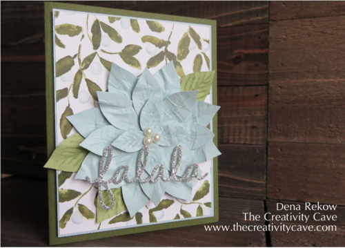 Beautiful Poinsettia using Stampin Up's Reason for the Season and the Festive Flower Builder Punch