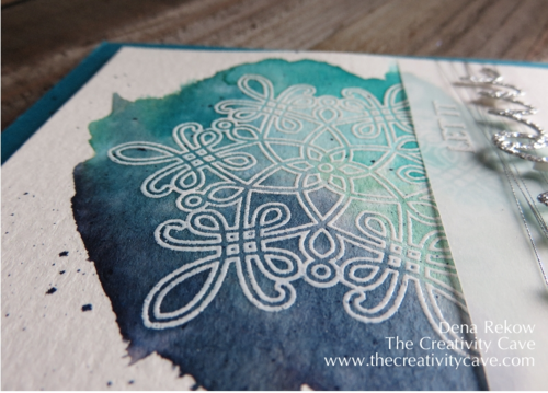 Create some spritz with just your marker--video on blog for how to!