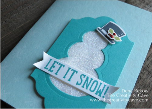Add some glitter with the Packing Tape Technique using Stampin Up's Snow Place Stamps and Framelits along with some glitter.  Check out awesome video tutorial on my blog along with more samples!