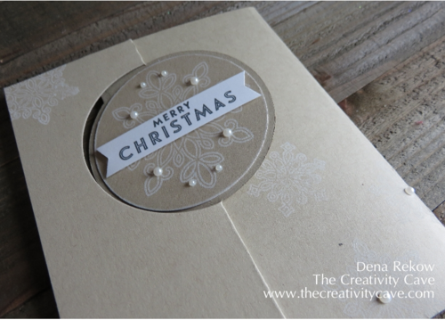 Stampin Up's Flurry of Wishes Circle Card Thinlits
