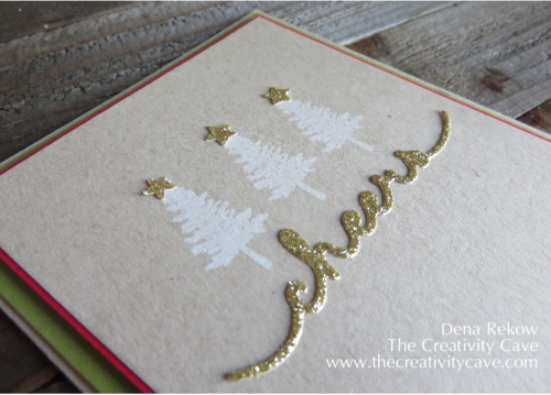 Stampin Up Project Life Hello December with Confetti Stars Punch and Greetings Thinlits make for a simple, quick and fun card!