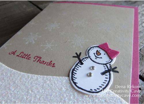 Stampin Up's Snow Place and One Big Meaning Stamp Sets make for an ADORABLY AWESOME Thank You Card for all your Holiday Gift Thanking needs! :) Check out the Video Tutorial (and the adorable inside of this card) on my blog!