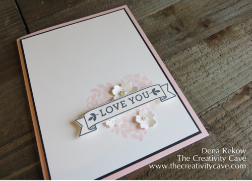 Preview of Stampin Up's Bloomin Love stamp set from the upcomming Occasions Catalog for the Case This Sketch Challenge