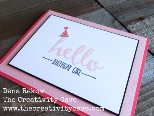 Check out Stampin Up's awesome new Hello set:  FREE with any $50 purchase from The Creativity Cave!  Watch the video on my blog for how to make this great project!