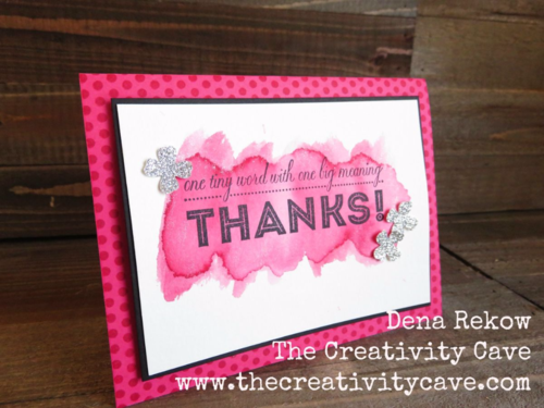 Friday Quickie Techniques and Tips Video Tutorial: Wet Wash Watercolor Background using Stampin Up's One Big Meaning Stamp set and ink pads with aquapainters.  Video on blog.