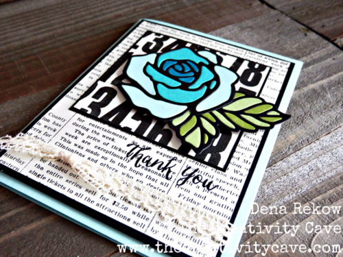 Friday Quickie Techniques and Tips Video Tutorial: Stained Glass Technique using Stampin Up's Rose Wonder Stamp Set and coordinating Rose Garden Thinlits