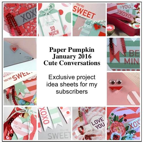 A Sampling of the project sheets you'll get when you are a Paper Pumpkin Subscriber through The Creativity Cave by Dena Rekow.  Check out my blog for an additional project and a video tutorial!