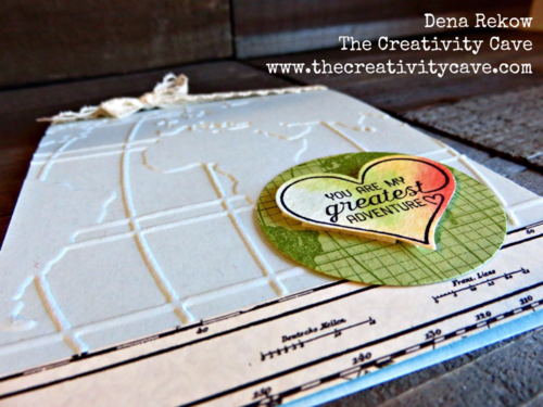 My Greatest Adventure card using Stampin Up's Going Global Stamp Set and World Traveler Embossing Folder.  Details and more photos on my blog!