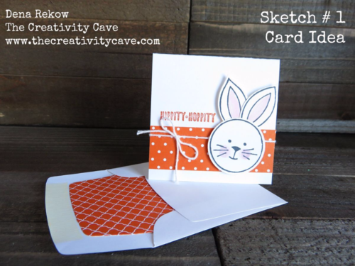 Adorable Easter Gift Card made with Stampin Up's Friends & Flowers stamp set with video tutorial on my blog.  Its part of my DSP Hoarder Sketch Ideas PDF.  Details on my blog!