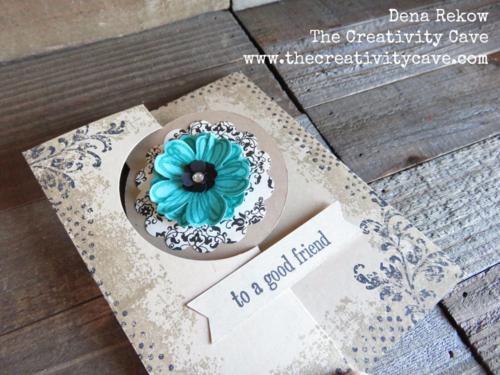 Fun and easy card using Stampin Up's Circle Card Thinlits and Timeless Texture Stamp Set--awesome video with tips on my blog!