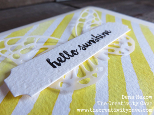 Stencils That Rock Video shows how easy this beautiful card is to make with the Dots & Stripes Decorative Mask with a Vellum Butterfly Thinlit.