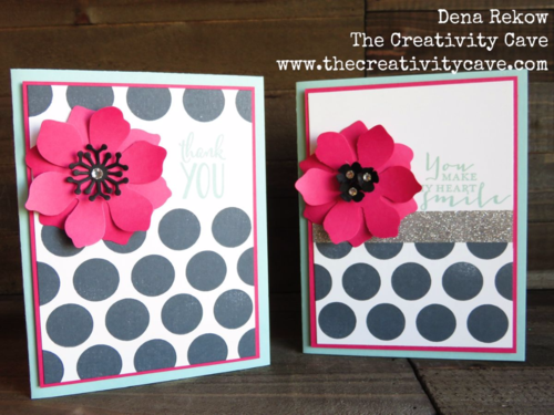How to make an awesome black and white background with a pop of color video tutorial on my blog with lots of different projects using Stampin Up Supplies!