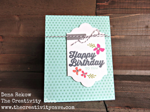 Fun and fast card with a video tutorial using Stampin Up's Perfect Pairings and Botanicals for you stamp set.