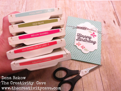 Great color combo for Fun and fast card with a video tutorial using Stampin Up's Perfect Pairings and Botanicals for you stamp set.