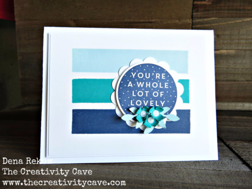 Fun card and video tutorial on how to make this beautiful color block card using Stampin Up 's  A Whole Lot of Lovely Stamp Set
