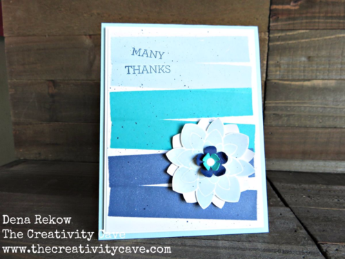 A great color-blocked card using a fun technique complete with video tutorial on my blog.  I used the Crazy About You Bundle from Stampin Up!