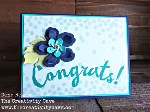 Super Simple and fun card using Stampin Up's Bravo Stamp set and Botanical Builder Framelits!  VIdeo on my blog!