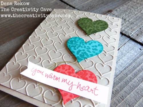 Quick and Easy Card using Sheltering Tree!  More Pics on my Blog!