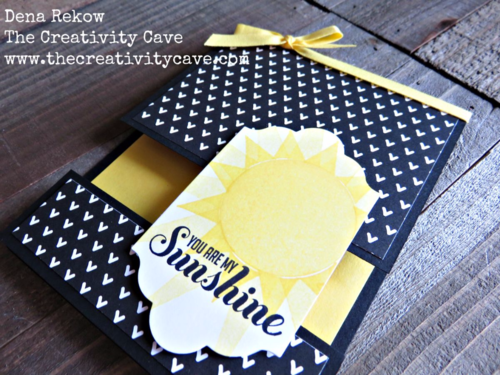 Check out the awesome video on my blog for how to create this awesome Split Card Using Stampin Up's Ray of Sunshine Stamp Set