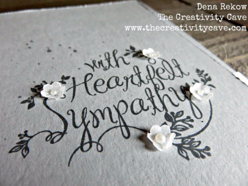 Check out the Video Tutorial on my blog for this simple, yet gorgeous Sympathy Card using Stampin Up's Heartfelt Sympathy stamp set.