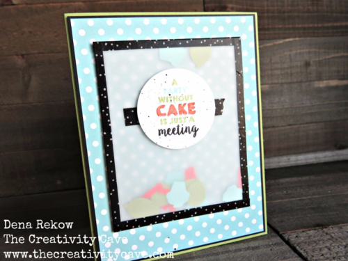 Great Video Tutorial on my blog for making cards with Washi Tape and Stampin Up's Party Wishes Stamp Set!