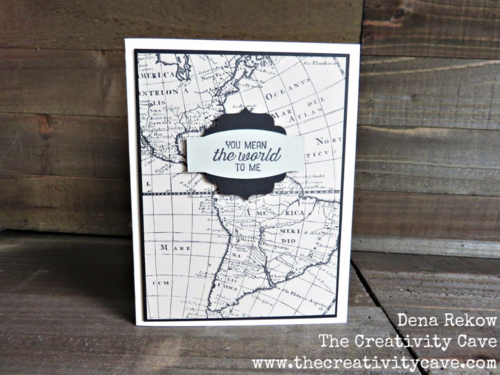 Great Video on how to make super simple Masculine Cards using Stampin Up's Going Global Stamp Set and Going Places DSP Paper Stack!