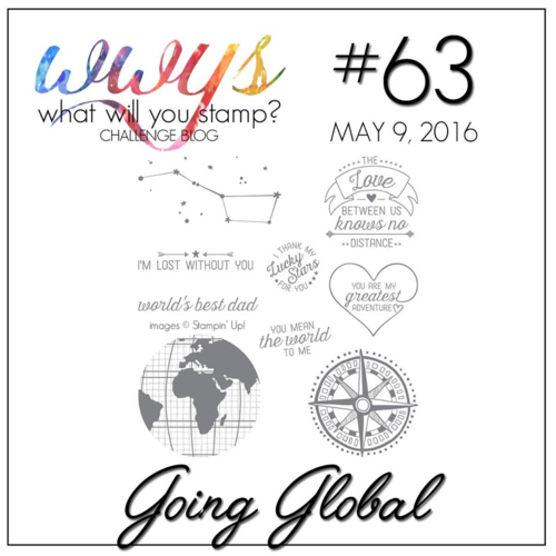 Join us for the WWYS Challenge this week using the set, Going Global--check out my blog for my take on this stamp set along with a video tutorial.