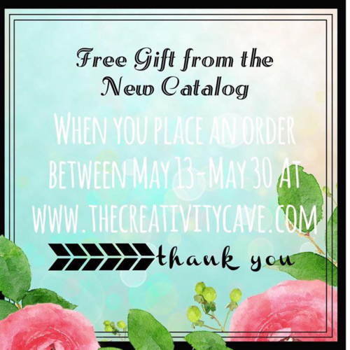 Order from The Creativity Cave from May 13th -May 30th for an exclusive gift!
