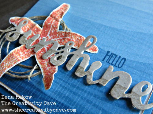 Video on how to make this gorgeous Starfish card on my blog at www.thecreativitycave.com using Stampin Up's Picture Perfect Stamp set! #stampinup #thecreativitycave #handmade
