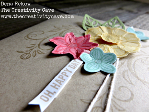 Video tutorial on making this awesome, easy card using Stampin Up's Falling Flowers Bundle on www.thecreativitycave.com #stampinup #thecreativitycave #fallingflowers #handmade