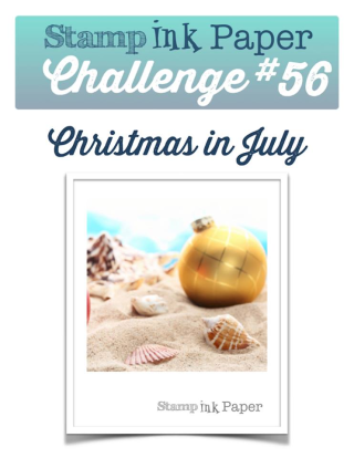 Join us for Christmas in July--video and inspration for this challenge on my blog at www.thecreativitycave.com using a Sneek Peek set, Thoughtful Branches from Stampin Up that will be available August 2nd, 2016 #stampinup #thecreativitycave #thoughtfulbranches #christmasinjuly #sipchallenge