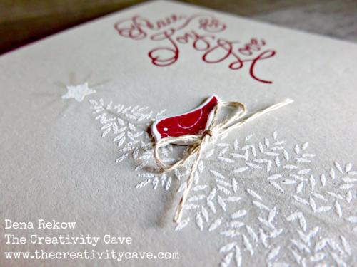 Christmas in July--video and inspration for this challenge on my blog at www.thecreativitycave.com using a Sneek Peek set, Thoughtful Branches from Stampin Up that will be available August 2nd, 2016 #stampinup #thecreativitycave #thoughtfulbranches #christmasinjuly #sipchallenge