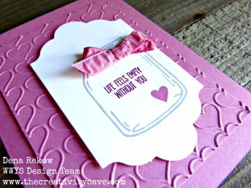 Great Video with some fun tips to create this adorable card on my blog, www.thecreativitycave.com using Stampin Up's Jar of Love Bundle! #stampinup #thecreativtycave #handmade #cardmaking #Jaroflove