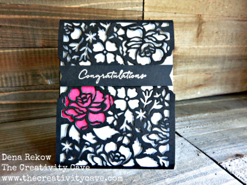 Check out the amazing card details on my blog, www.thecreativitycave.com using Stampin Up's Floral Phrases Stamp Set and Coordinating Thinlits #stampinup #gdp045 #thecreativitycave #wedding #handmade