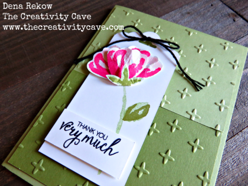 Check out the fun card and video tutorial on my blog using Stampin Up's Bunch of Blossoms Bundle on my blog, www.thecreativitycave.com #stampinup #thecreativitycave #handmade #BunchofBlossoms