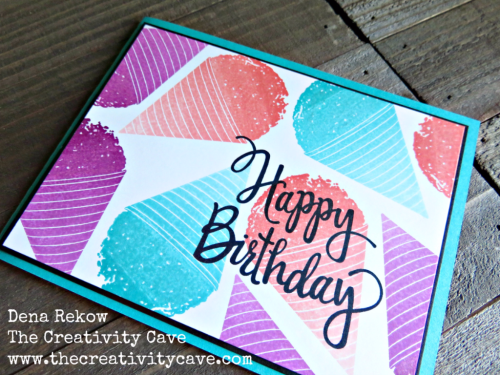 Fun video to show this adorable card on my blog: www.thecreativitycave.com #stampinup #handmade #ombrepads #thecreativitycave