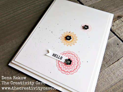 Great video for this simple card using Stampin Up's Paisleys and Posies Stamp set and just a few other supplies for the SIP Clean and Simple Challenge this week on my blog at www.thecreativitycave.com #stampinup #paisleysandposies #thecreativitycave #cleanandsimple #handmade