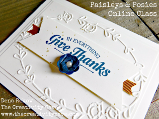 Paisleys and Posies Online Class available at The Creativity Cave at www.thecreativitycave.com with several options available #stampinup #thecreativitycave #onlineclass #rubberstamping