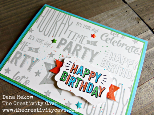 Check out the fun birthday projects and video tutorial on my blog at www.thecreativitycave.com #stampinup #thecreativitycave #homesweethome #birthday