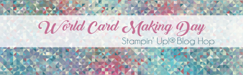 World card making day blog hop header