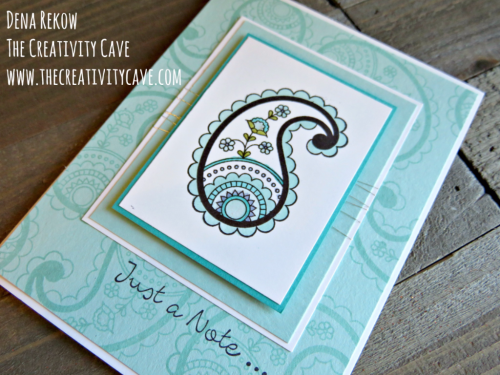 Check out the awesome video tutorial on my blog for making this beautiful card using Stampin Up's Paisleys and Posies Stamp Set at www.thecreativitycave.com #stampinup #handmade #thecreativitycave #paisleysandposies