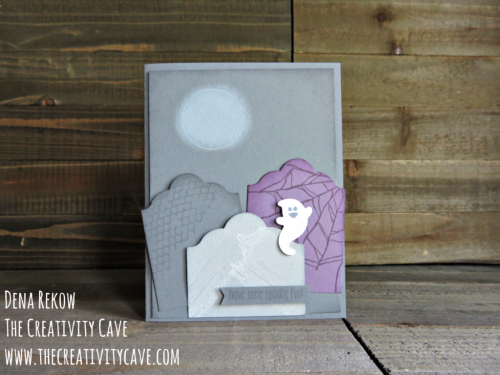 Check out the fun video tutorial on my blog for making this adorable card using Stampin Up's Goulish Grunge and Spooky Fun Stamp Sets at www.thecreativitycave.com #stampinup #thecreativitycave #goulishgrunge #spookyfun