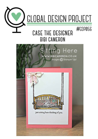 Check out the video tutorial for my take on this awesome challenge on my blog using Stampin Up's Blooms & Wishes Stamp set www.thecreativitycave.com #stampinup #gdp056 #thecreativitycave