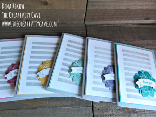 Check out the fun video tutorial for this card as well as a set you can package and gift using Stampin Up's Thoughtful Banners and Crazy about you Stamp sets on my blog: www.thecreativitycave.com #stampinup #handmade #giftgiving #thecreativitycave