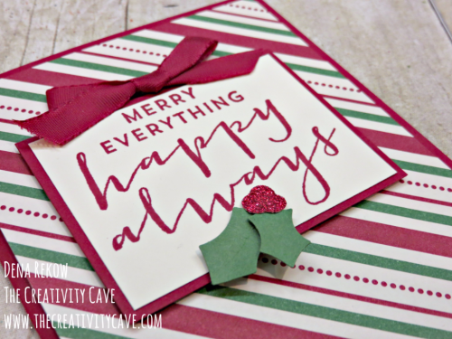 Check out the fun video I created using Stampin Up's Suite Sayings stamp set and the Holly Berry Builder Punch on my blog: www.thecreativitycave.com #stampinup #thecreativitycave #suitesayings #hollyberrybuilderpunch