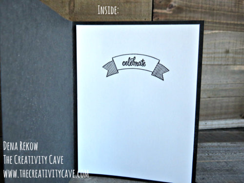 Inside of the card: Check out the awesome Video Tutorial on how to make this NON-Christmas Card from a Christmas Stamp set using Stampin Up's Star of Light Stamp Set and Coordinating Framelits on my blog: www.thecreativitycave.com #stampinup #thecreativitycave #staroflight